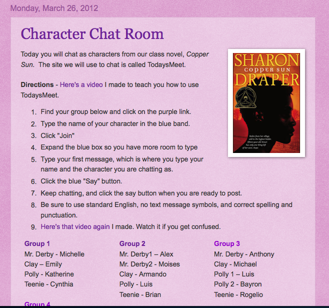 Classroom Chat Rooms Incorporating Technology Into The Classroom